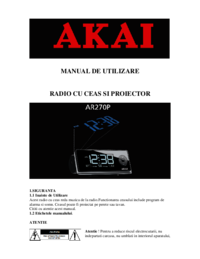 To view the document Akai AR270P User Manual