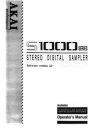 To view the document Akai S1000 Series Operator's Manual